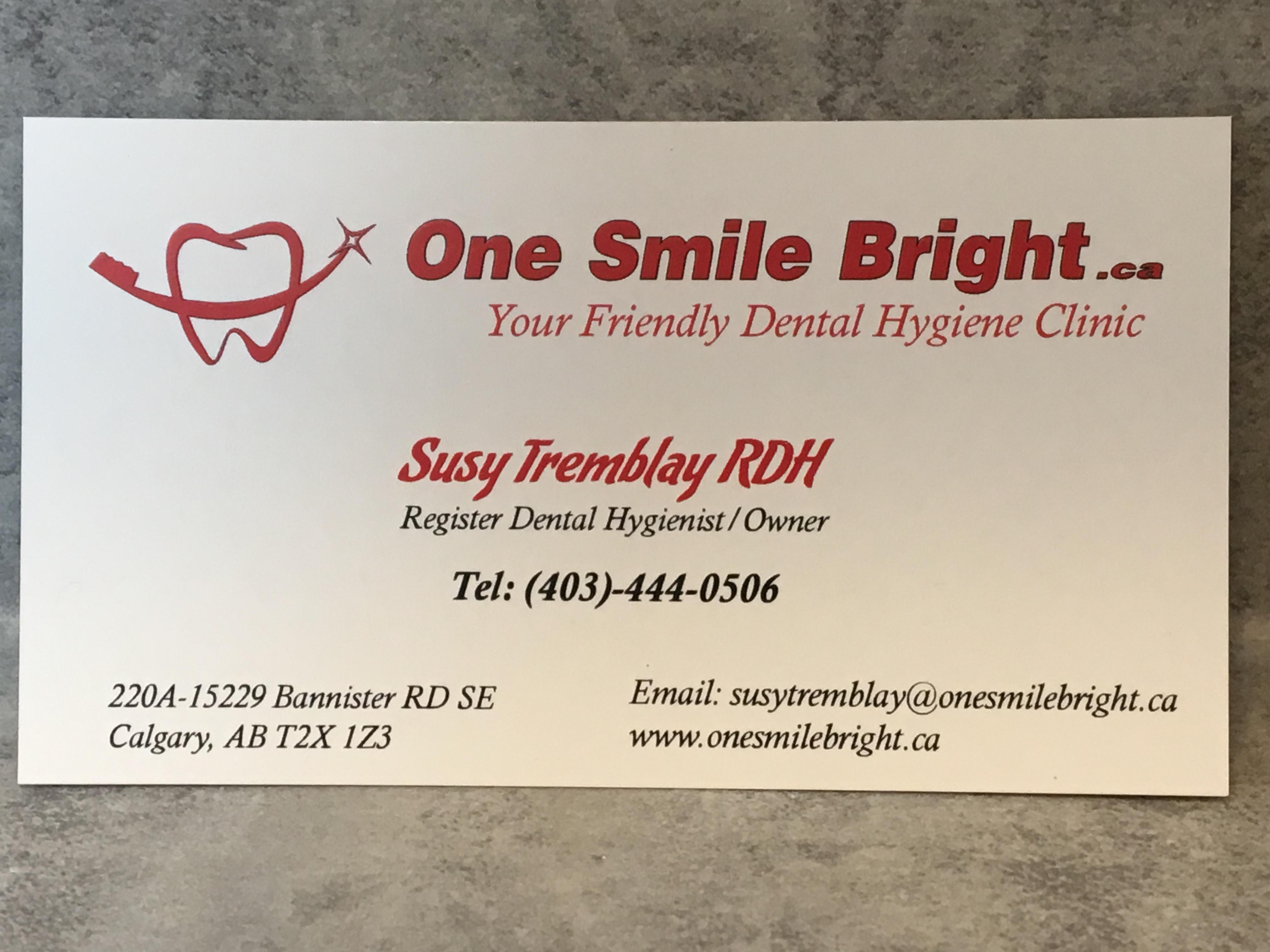 South Calgary Dental Hygiene Practice | One Smile Bright Photo Gallery